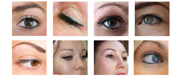 top eye lash enhancement with cosmetic tattooing