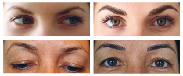 microblading brows examples of  permanent cosmetic